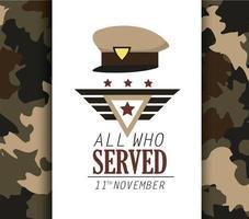 disegno di celebrazione del giorno dei veterani