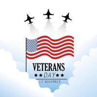 disegno di celebrazione del giorno dei veterani vettore