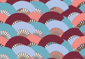 Modello di ventaglio spagnolo colorato