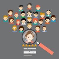 concetto di reclutamento sulle risorse umane vettore