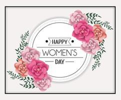 cartolina d'auguri di giorno delle donne design con fiori