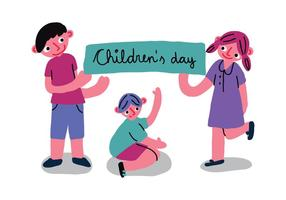 Vettore dell'insegna di giorno dei bambini