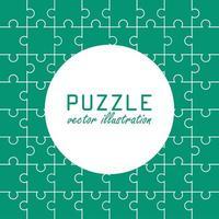 sfondo del modello di puzzle vettore