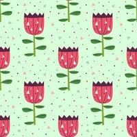 piccoli fiori rosa carini sul reticolo senza giunte verde