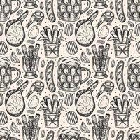 Oktoberfest schizzo stile seamless pattern