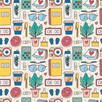colorato disegnato a mano fornisce seamless pattern