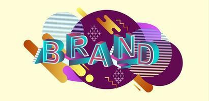 intestazione web di concetto moderno di marca