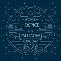 poster per l'hospice mondiale e le cure palliative