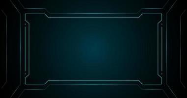 interfaccia futuristica tecnologia cornice quadrata blu hud
