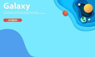 galassia del sito Web stile taglio carta o design dello spazio