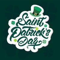 st. poster di trifoglio e cappello di patrick's day