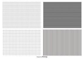 Collezione seamless pattern a griglia