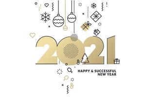 felice anno nuovo 2021 biglietto di auguri