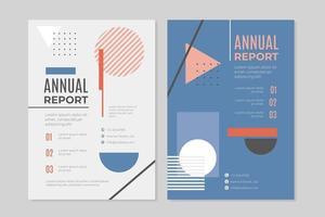 rapporto annuale di affari ambientato nello stile di memphis