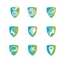 scudo per il set di logo di assistenza sanitaria