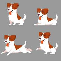 jack russell terrier in diverse pose vettore