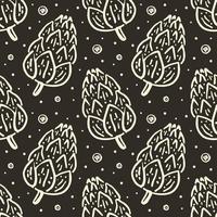 seamless pattern di coni di foresta vettore