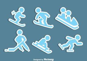 Vettore delle icone degli sport invernali