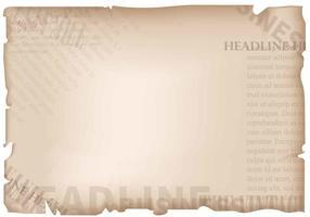 Vintage vecchio sfondo di giornale vettore