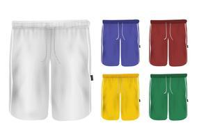 Set di pantaloni sportivi design vuoto vettore