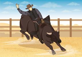 Illustrazione di cavalieri Bull vettore
