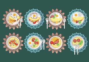 Illustrazione stabilita di vettore dell'omelette