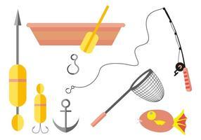 Vettore libero delle icone di pesca