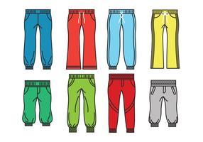 Vettori di icona di pantaloni della tuta
