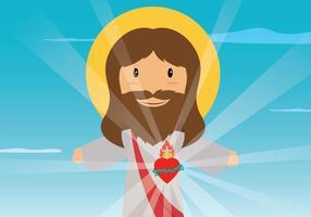 Illustrazione del Sacro Cuore gratis vettore