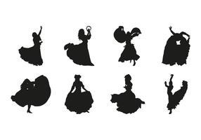 Vettore libero delle siluette di ballo di Gipsy