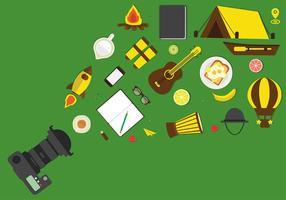 vettore gratuito di storytelling camp