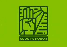 Distintivo d'onore dello scout vettore