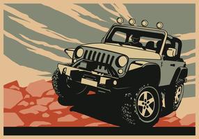Jeep d'avventura vettore