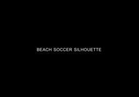 Vettore della siluetta di calcio della spiaggia
