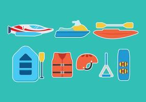 Icone di vettore di sport acquatici