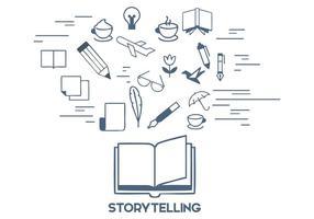 Storytelling illustrazione vettoriale gratuito