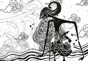 """Illustrazione di Wayang """"Gunungan"""""""