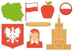 Vettore delle icone della Polonia
