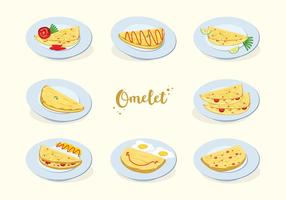 Vettore gratuito di omelette