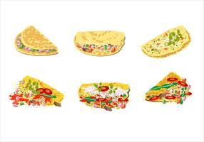 Omelette vettoriali gratis