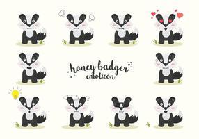 Vettore gratuito Badger miele