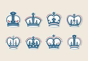 vettore di corona britannica