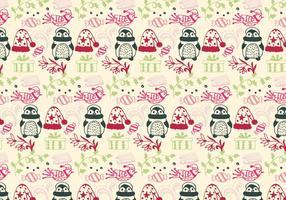 Natale Pattern vettoriali gratis con elementi di Natale
