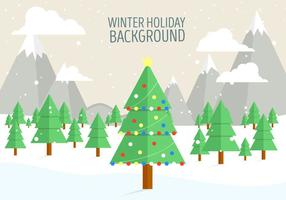 Vector Christmas Landscape gratuito