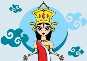 Illustrazione di Durga vettore