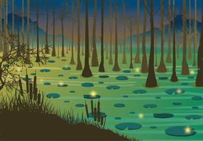 Swamp Night Free Vector
