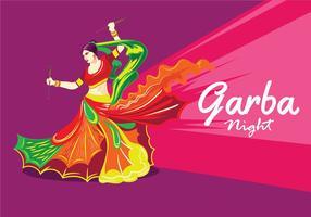 Disegno vettoriale di donna che gioca Garba Dance