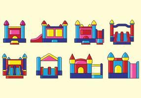 Set di icone di casa di rimbalzo vettore