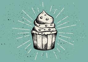 Sfondo di muffin disegnati a mano d'epoca