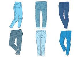 Vettore delle icone delle blue jeans